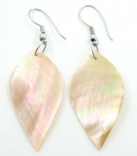 "Handmade 2.2"" Mother of Pearl Shell Dangle earrings ; GA017"
