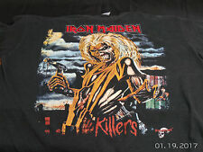 Vintage 1990S Iron Maiden Embroidered T-shirt XL Killers