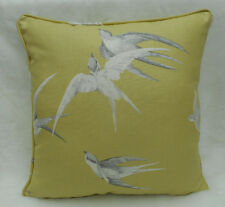Sanderson Fabric Cushion Cover  'Swallows' Lime Colourway - Linen Blend