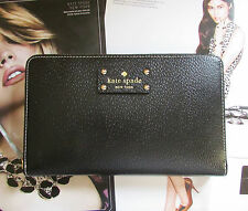 Kate Spade New York Travel Wallet Wellesley Black NEW