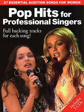 Pop Hits Professional Singers Audition Music Book + CDs