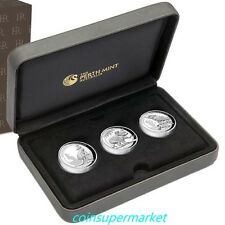 2016 Australia Kookaburra Kangaroo Koala Proof Silver High Relief 3-Coin Set !!