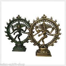 Feiner tanzender Shiva aus Messing 18 cm Hinduismus Indien Gott Buddha