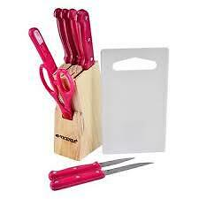 Keimav Knife 10-piece Set (Pink)