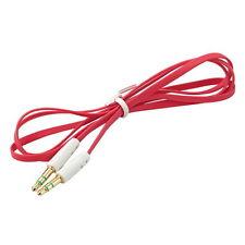 AUX jack 3,5mm Jack mâle plat câble extension audio Auxiliaire pour iPhone MP3 D