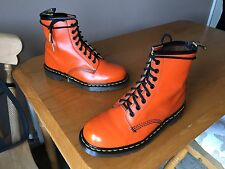 Vintage Dr Martens 1460 orange leather boots UK 7 EU 41 skin punk ENGLAND.