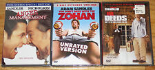 3 Adam Sandler DVDs Mr. Deeds-Anger Management-You Don't Mess With The Zohan NEW
