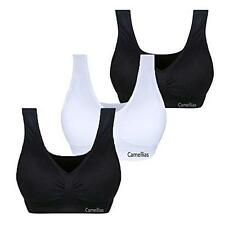 Camellias 3 PACK Women Seamless Everyday Sports bra Wire Free size M