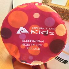 "Ozark trail kids sleeping bag size 57"" x 28"""