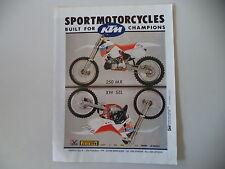 advertising Pubblicità 1990 MOTO KTM MX 250/MX 125