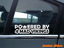 2x  Powered by 4 mad vikings car stickers - for volvo s40 v40 T4 Turbo