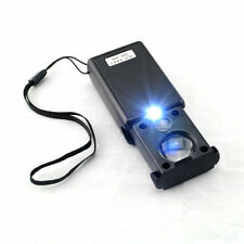 30X 60X Withdrawable Type Jewelers Loupe / Magnifier with Led & Uv Lights Gift
