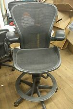 Herman Miller Aeron Mesh Office Drafting Stool Desk Chair Medium Size B wave