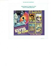 ELVIS PRESLEY 70TH BIRTHDAY ON TOUR GRENADA $2 4 STAMPS ON SHEET 2005