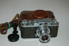 Zorki 1 Type C Vintage Soviet Rangefinder Camera With Case & Cap 1953. No.425378