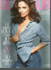 Glamour August 2014 Jeans/Katie Holmes/Men on Commitment/Beauty Obsessions
