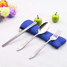 3PC Fork Spoon Travel Picnic Stainless Steel Cutlery Portable Camping HOT  1