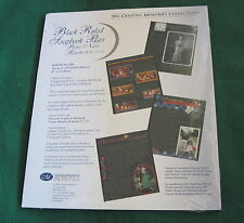 Creative Memories Collection - 8 1/2 x 11 BLACK RULED SCRAPBOOK PAGES - NIP