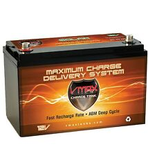VMAX SLR125 12V 125AH AGM Deep Cycle Group 31 Sealed Lead Acid AGM Solar Battery