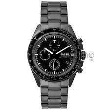 Fossil Authentic Watch Men's CH3028 Sport 54 Black Stainless Steel 44mm Chrono