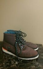 Vans OTW Collection Hi Skate Sneaker,Leather Upper Men's Shoes Brown sz 10.5