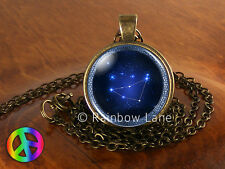 Astrology Capricorn Constellation Stars Jewelry Necklace Pendant Charm Gift