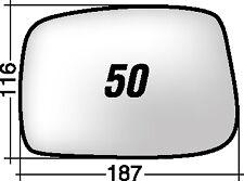 LANCIA PHEDRA - FIAT ULISSE 2002 - C8-807 50D RICAMBIO SPECCHIO DESTRO+BIADESIVO