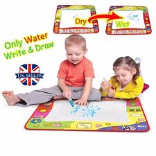 UK Kids Toys Water Scrawl Mat Drawing Painting 2 Magic Pen for Childrens Toddler