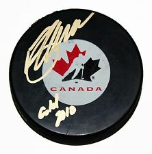 BREDEN MORROW SIGNED TEAM CANADA Puck 2010 GOLD INSC NHL STAR AUTOGRAPHED +COA