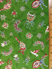 Doves Ribbons Snow Flakes Candles Flowers…etc cotton fabric BY THE YARD