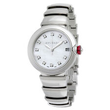 Bvlgari LVCEA  Automatic White Mother of Pearl Diamond Dial Stainless Steel