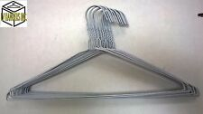 "100 White Coated Wire Suit Hangers; 16"", 13G Free Shipping"