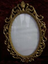 Vintage Gilt Metal Italian Oval Photo Frame Picture Frame