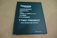 TRIUMPH TRIDENT T160 GENUINE WORKSHOP MANUAL ALL MODELS US AND UK