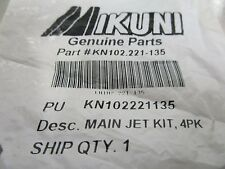 Mikuni Main Jet 102/221 Size 135 For CV and Power Jet Carbs,Slotted KN102221135