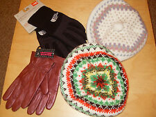HATS AND GLOVES BE READY FOR WINTER WITH STYLE CLEAN & GOOD TO GO WARM QUALITY