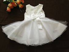 BABY GIRL Battesimo Battesimo Festa Matrimonio Natale 3D Flower Dress 18-24 mesi