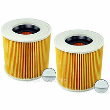 2 x Wet & Dry Filter for KARCHER WD3370 A2504 A2654 A223 Vacuum Cleaner