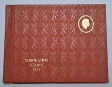 RARE 1953 QE II Coronation Commonwealth SG Stamp Album Collection-(ST-004)