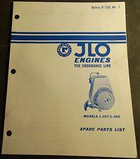 4/1970  JLO ENGINE ENDURANCE LINE L-297, L-300  SPARE PARTS MANUAL JP-7702 (113)