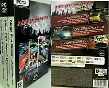 PC NFS Need for Speed Collectors Series Underground 1, 2 & Most Wanted Spiele OV