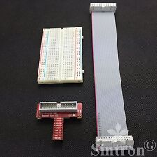 Sintron GPIO Extension Board v2.2 Ribbon Cable Breadboard for Raspberry Pi B Kit