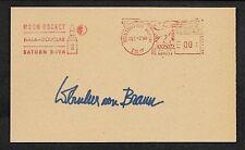 Wernher Von Braun Autograph Reprint On Original Period 1960s 3X5 Card