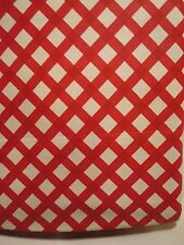 "Vinyl Tablecloth Table Cloth Mini Bias Gingham Country Red & White NWT 52"" x 90"""