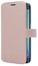 Genuine Guess Saffiano Collection Book Case for Samsung Galaxy S7 - Pink