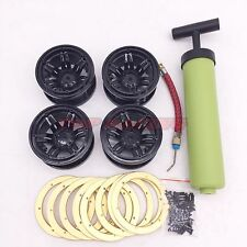 """2.2"""" Inflatable Metal BeadLock Wheels (4) W/ inflator For Axial Wraith Rims"""
