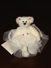 TILDEN MANOR BEAR MINDY Lace Dress Pink Roses Pretty Wedding  TAG