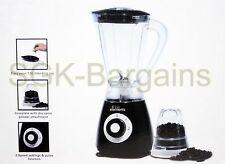 400w Eléctrico Multi alimentos Licuadora Con Molinillo Smoothie Procesador Líquido Negro
