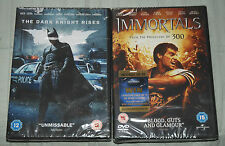 THE DARK KNIGHT RISES and IMMORTALS 2 DVDs NEW & Sealed