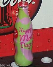 2012 WORLD OF COCA COLA HAPPY MOTHER'S DAY 8OZ COCA - COLA GLASS BOTTLE